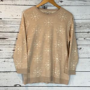 Loft Snowflake Sweater Size Large